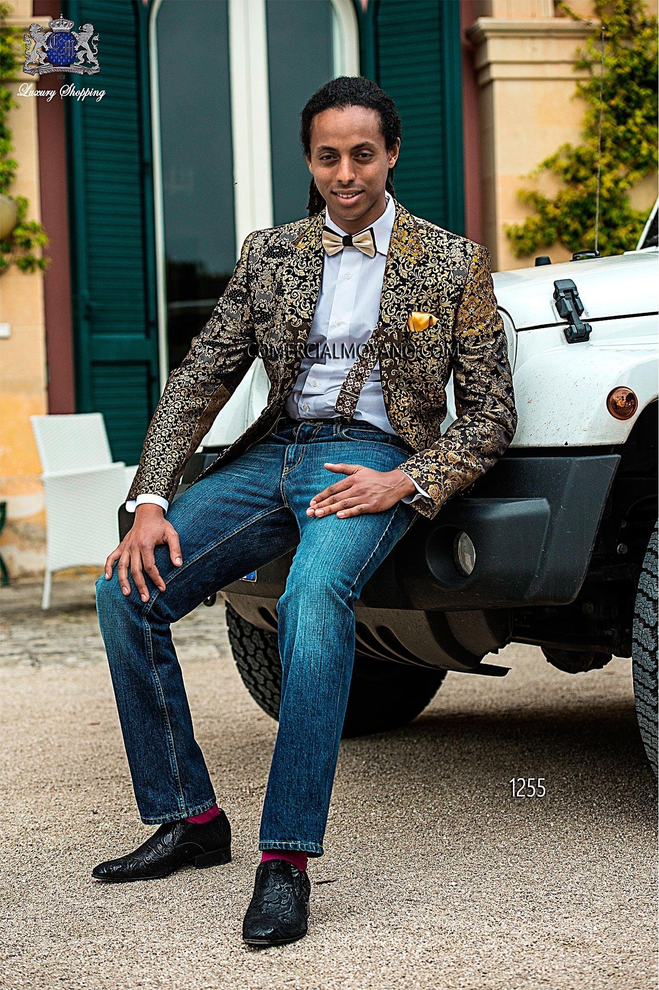 Hipster patchwork men wedding suit model 1255 Ottavio Nuccio Gala