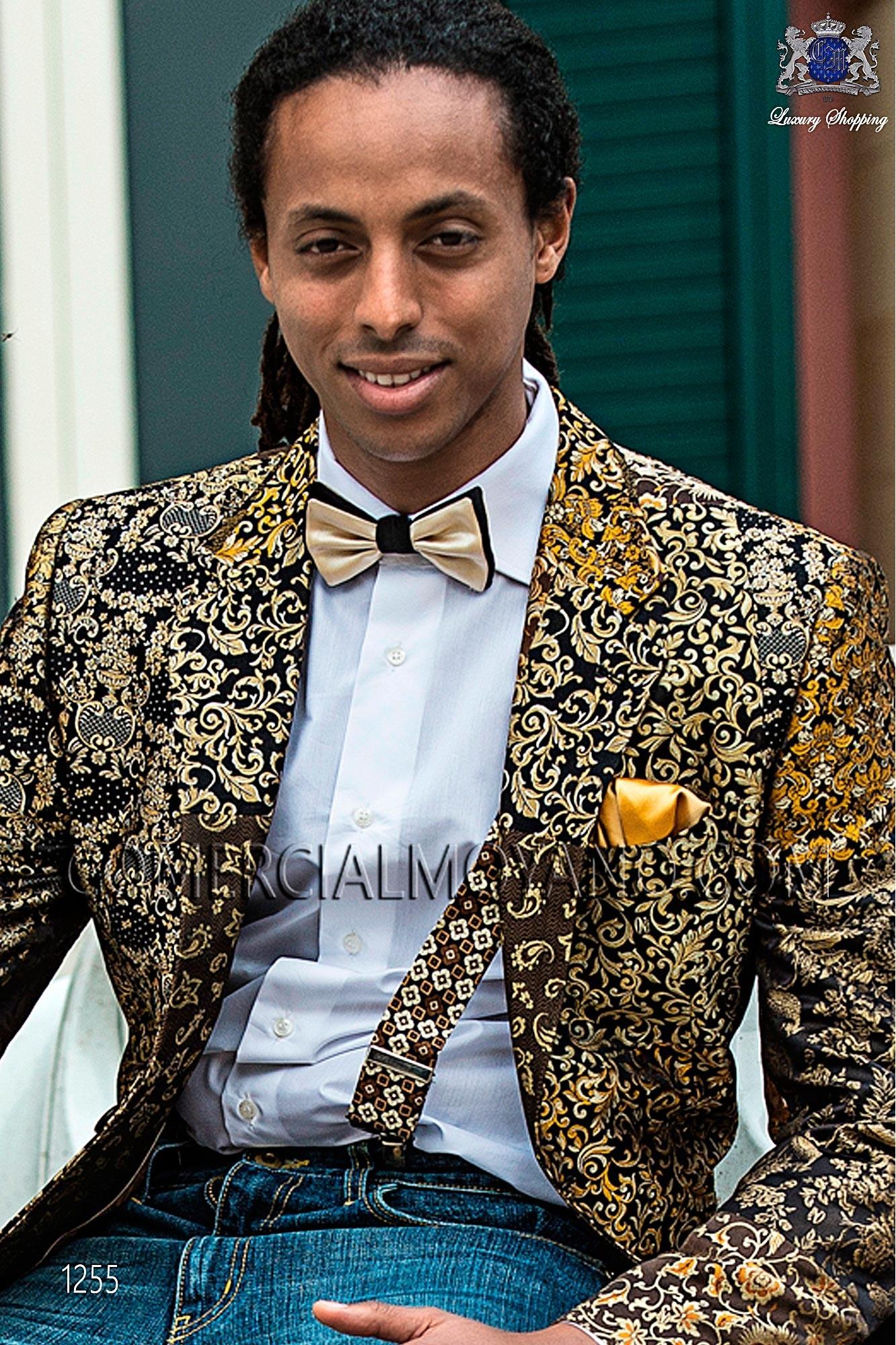Traje Hipster de novio oro-negro modelo: 1255 Ottavio Nuccio Gala colección Hipster