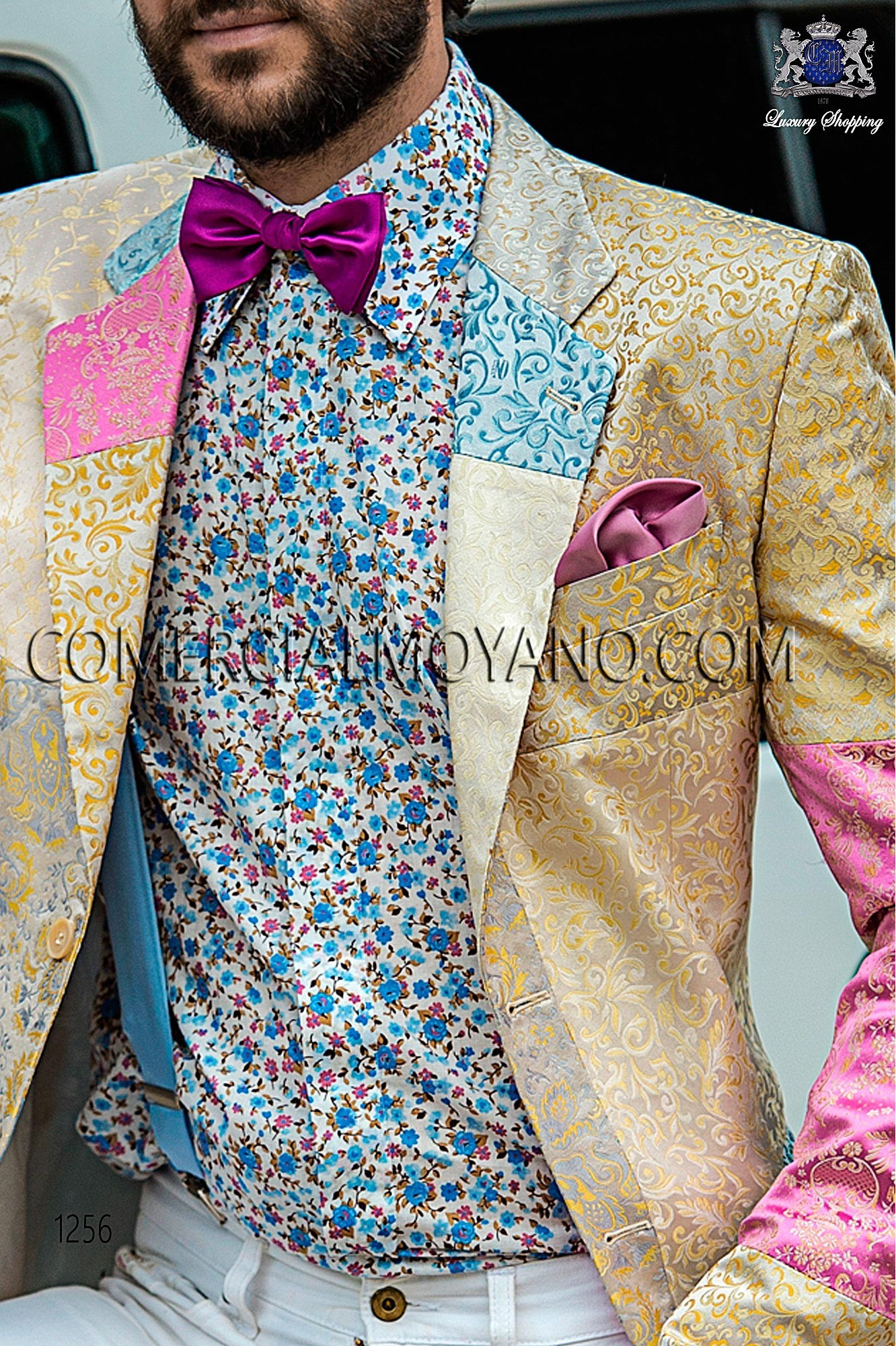 Italian hipster patchwork men wedding suit, model: 1256 Ottavio Nuccio Gala 2017 Hipster Collection