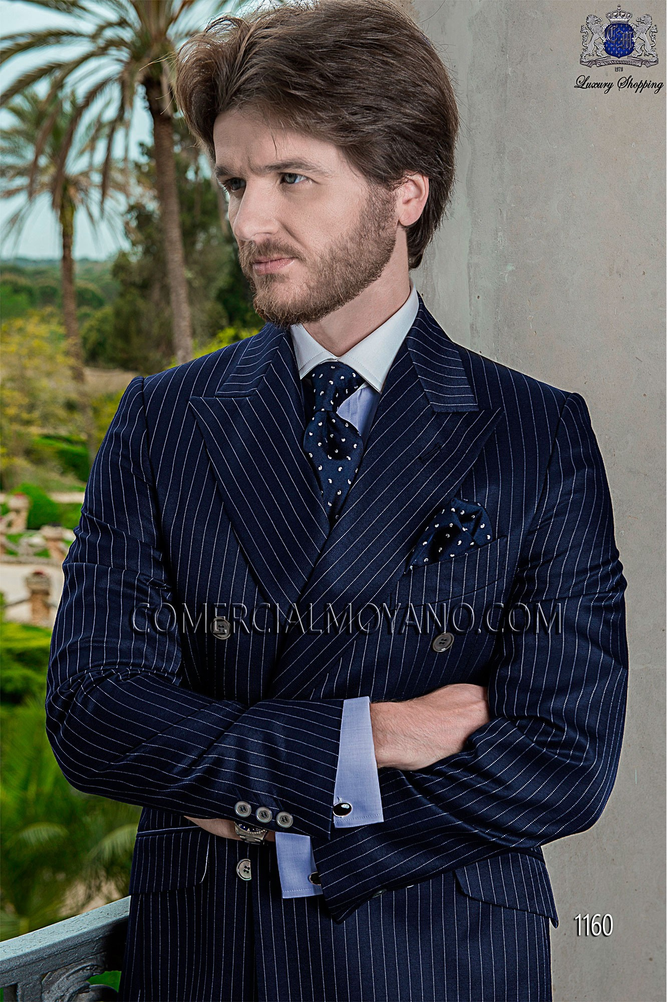 Gentleman blue men wedding suit model 1160 Ottavio Nuccio Gala