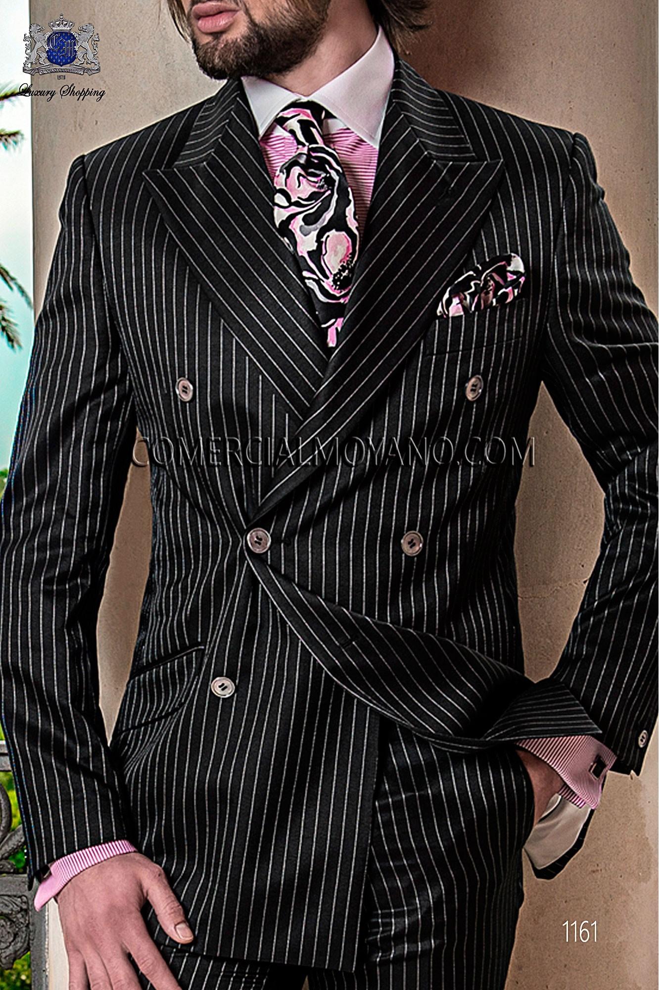 Traje Gentleman de novio negro modelo: 1161 Ottavio Nuccio Gala colección Gentleman