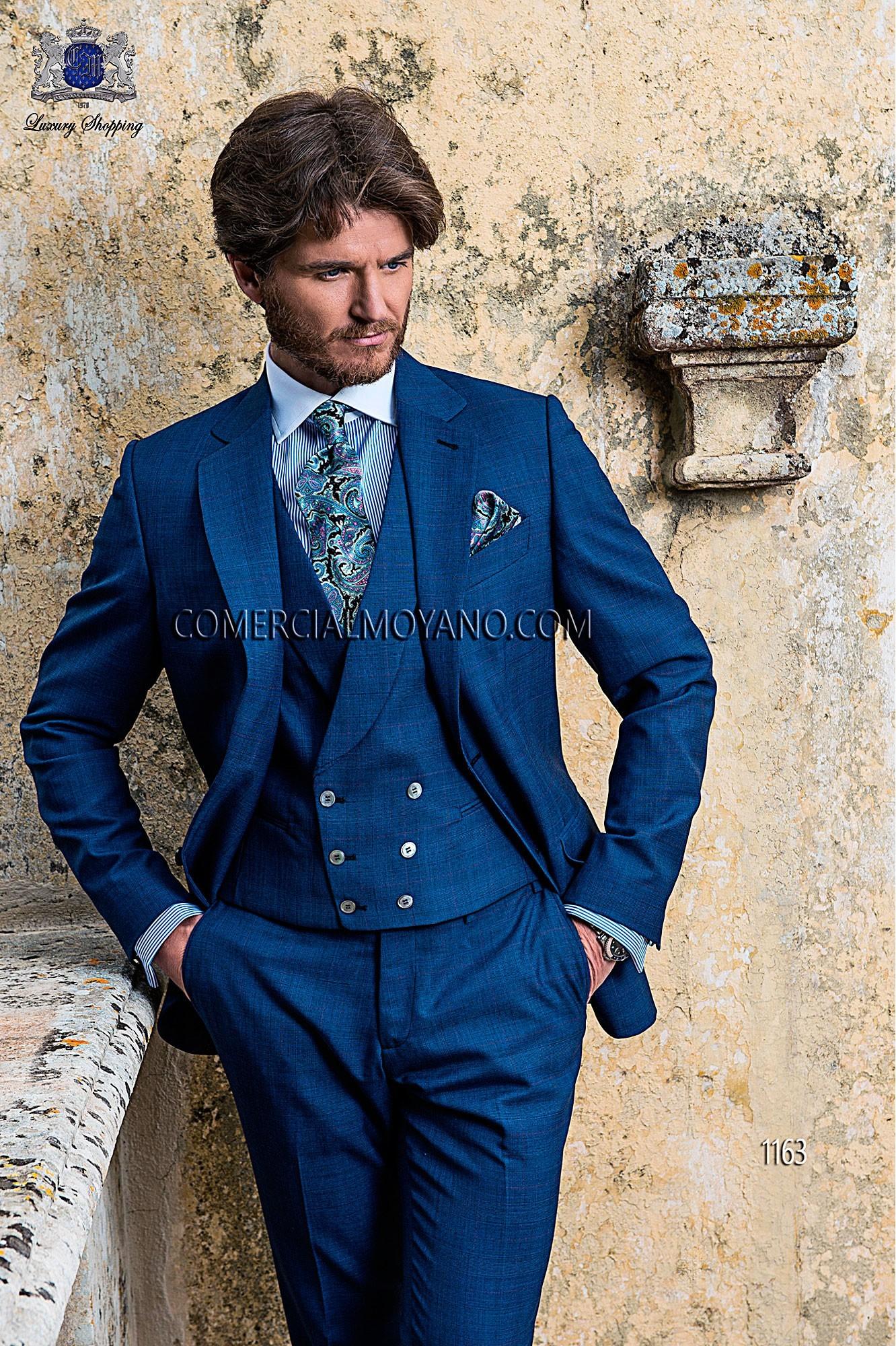 Gentleman blue men wedding suit model 1163 Ottavio Nuccio Gala