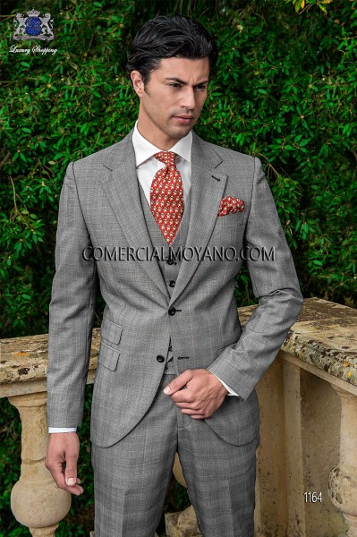 Italian gentleman gray men wedding suit style 1164 Ottavio Nuccio Gala