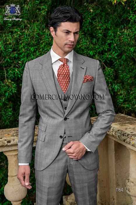 Italian prince of wales groom vested suit 1164 Ottavio Nuccio Gala