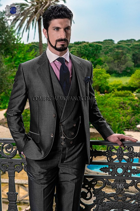 Italian grey wedding suit 1165 Ottavio Nuccio Gala