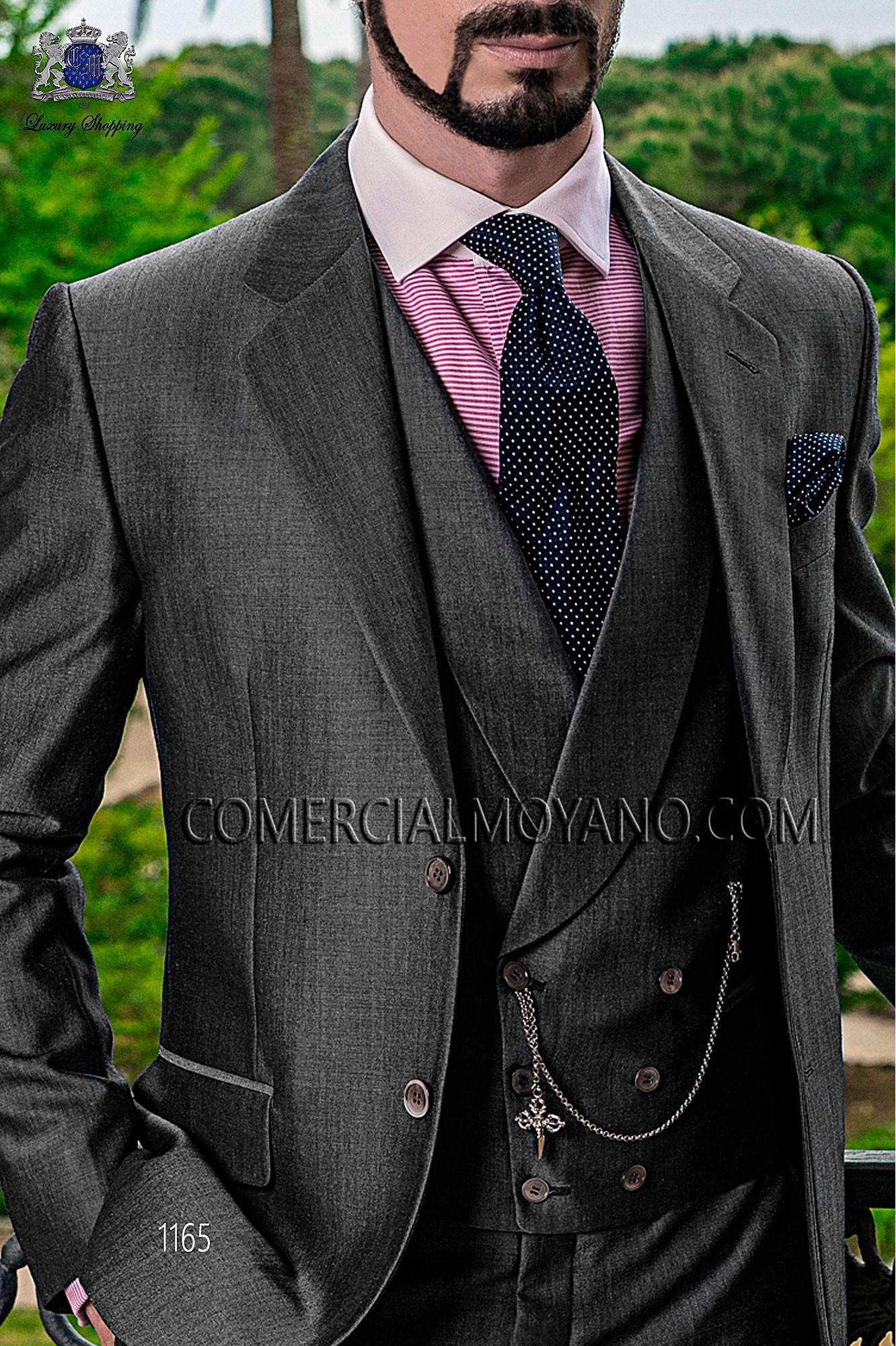 Italian gentleman gray men wedding suit, model: 1165 Ottavio Nuccio Gala Gentleman Collection