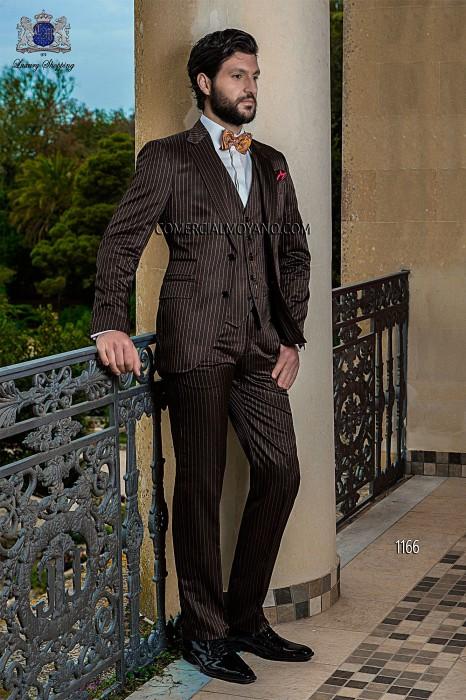 Italian bespoke brown wedding suit