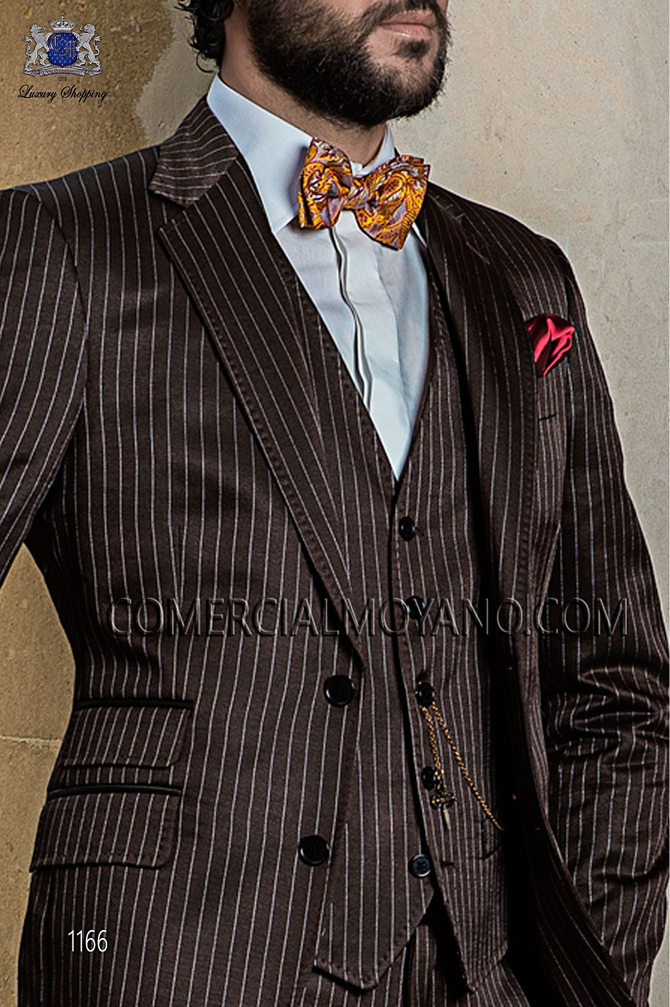 Traje de novio italiano marrón modelo: 1166 Ottavio Nuccio Gala colección Gentleman