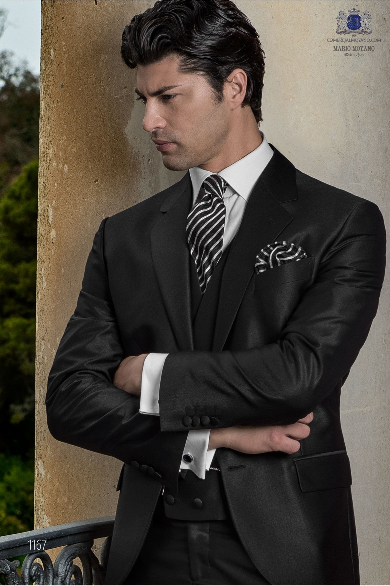 Gentleman grey antracite men wedding suit model 1167 Ottavio Nuccio Gala