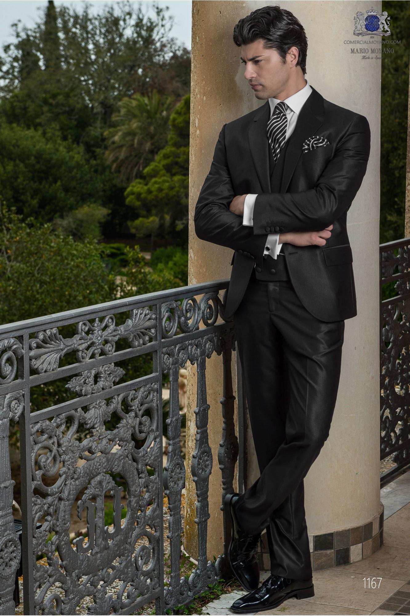 Traje Gentleman de novio gris antracita modelo: 1167 Ottavio Nuccio Gala colección Gentleman