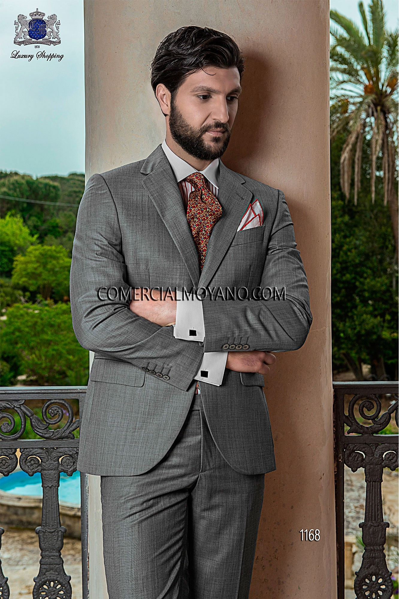 Traje de novio italiano gris claro modelo: 1168 Ottavio Nuccio Gala colección Gentleman 2017