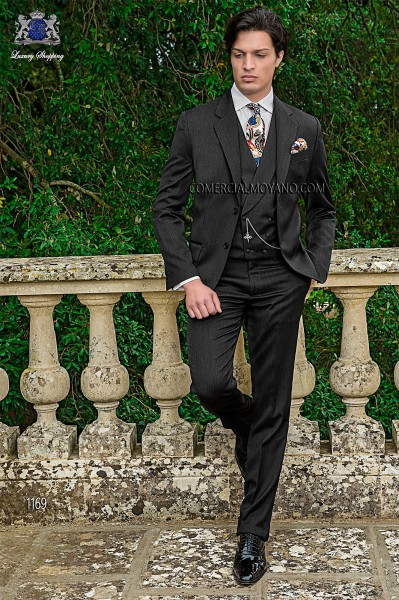 Italian gentleman gray men wedding suit style 1169 Ottavio Nuccio Gala