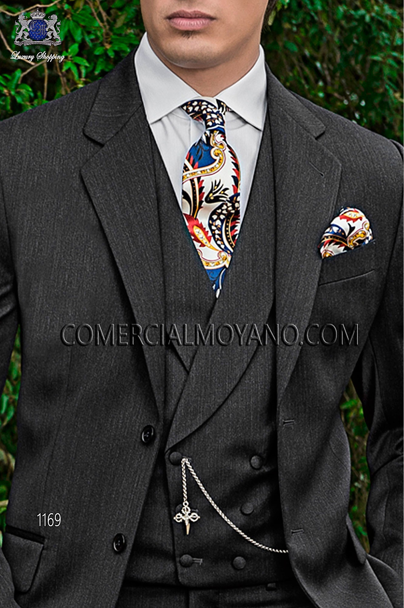 Italian gentleman gray men wedding suit, model: 1169 Ottavio Nuccio Gala Gentleman Collection
