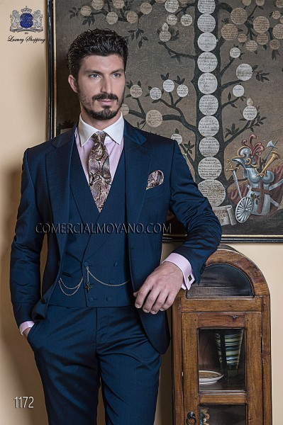 Italian gentleman blue men wedding suit style 1172 Ottavio Nuccio Gala
