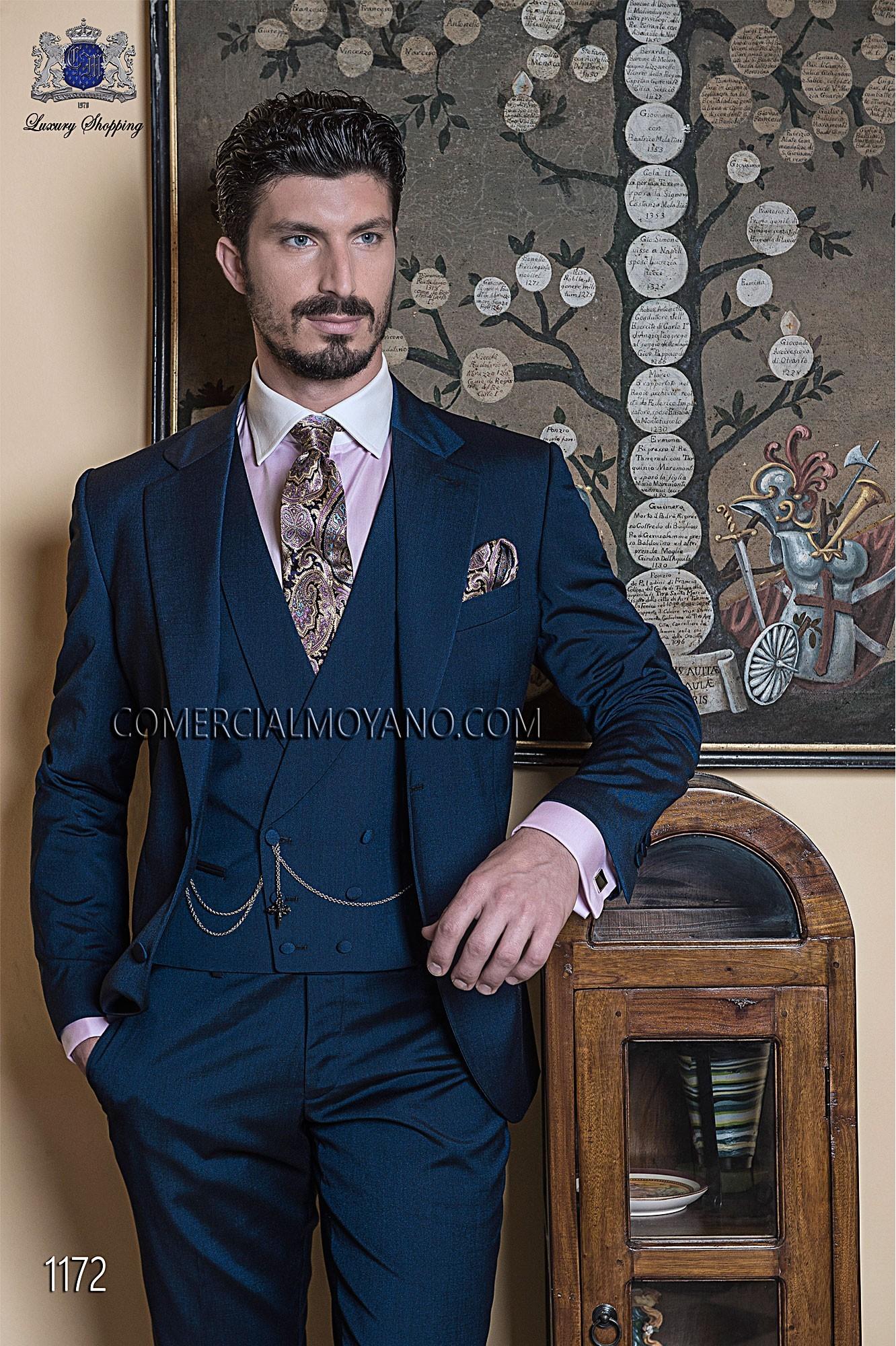 Traje de novio italiano azul modelo: 1172 Ottavio Nuccio Gala colección Gentleman