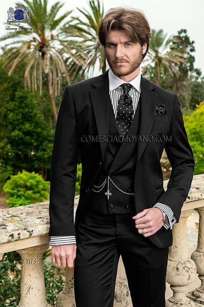 Italian gentleman black men wedding suit style 1173 Ottavio Nuccio Gala