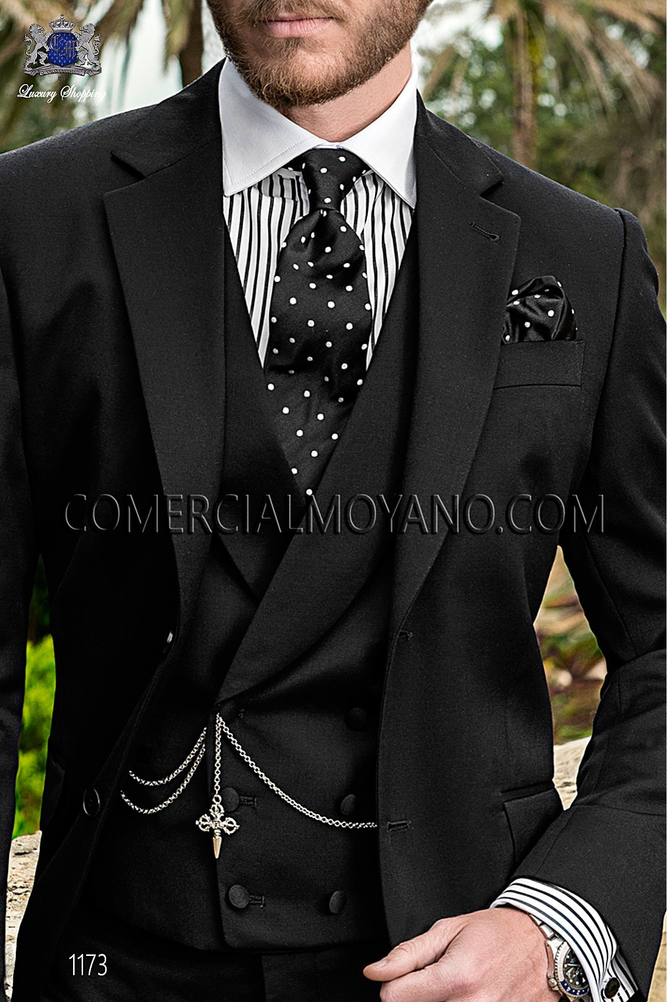 Italian gentleman black men wedding suit, model: 1173 Ottavio Nuccio Gala Gentleman Collection