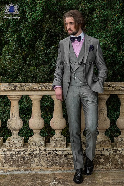 Italian gentleman gray men wedding suit style 1177 Ottavio Nuccio Gala