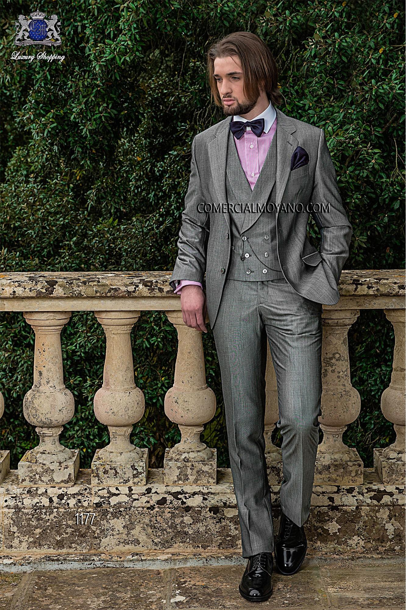 Traje de novio italiano gris modelo: 1177 Ottavio Nuccio Gala colección Gentleman