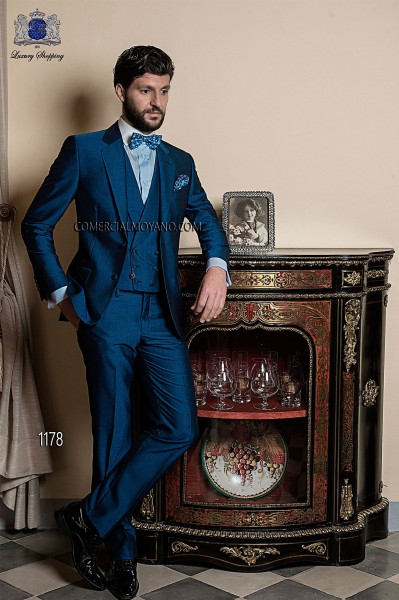 Italian gentleman blue men wedding suit style 1178 Ottavio Nuccio Gala