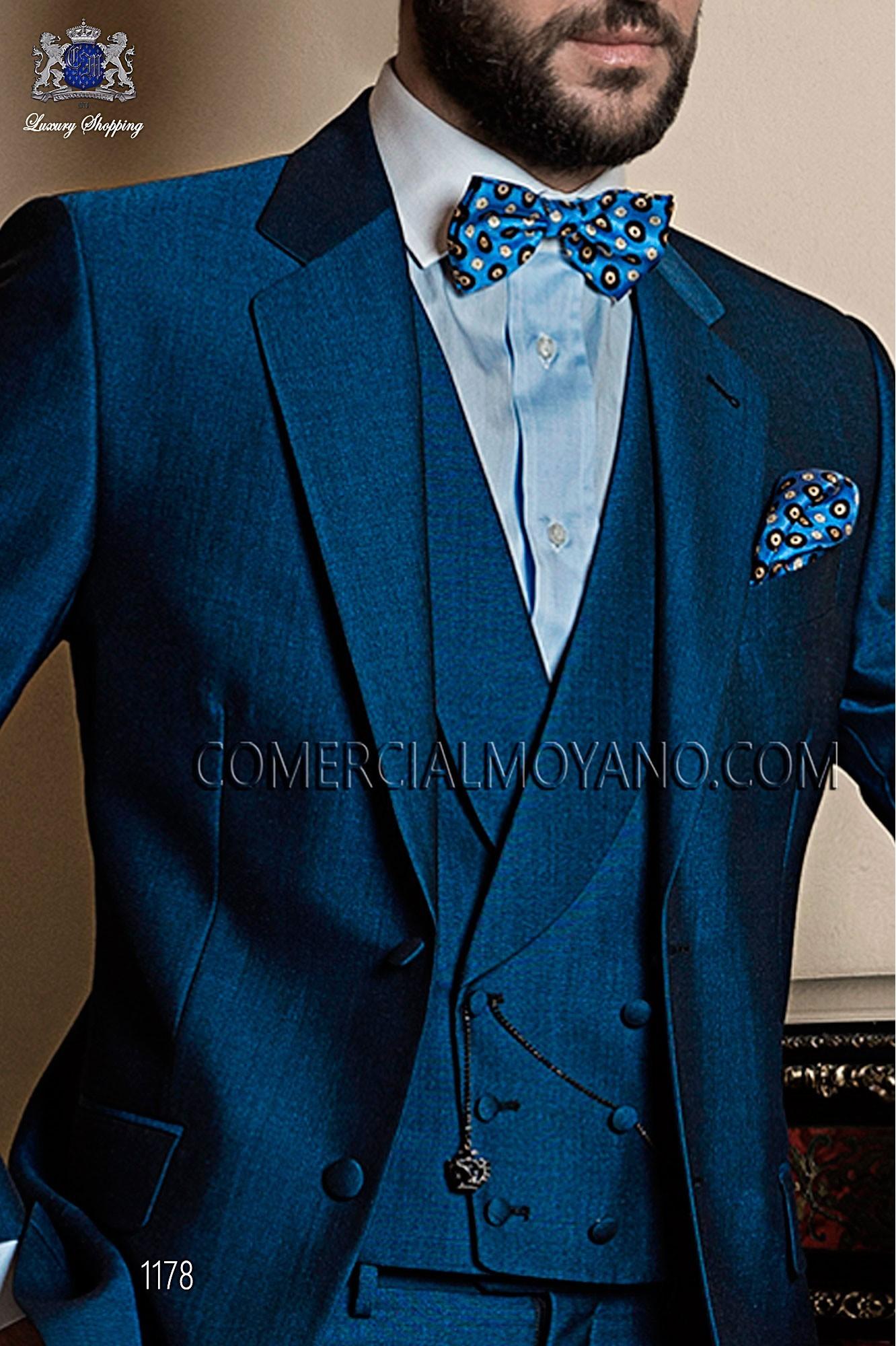 Italian gentleman blue men wedding suit, model: 1178 Ottavio Nuccio Gala 2017 Gentleman Collection