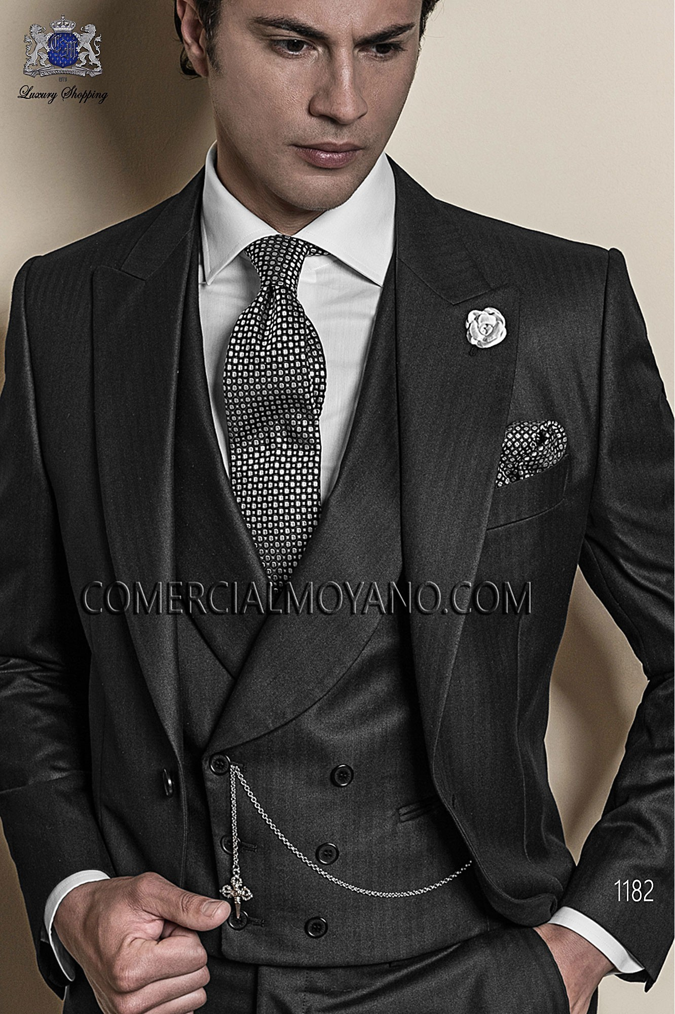 Traje Gentleman de novio gris modelo: 1182 Ottavio Nuccio Gala colección Gentleman