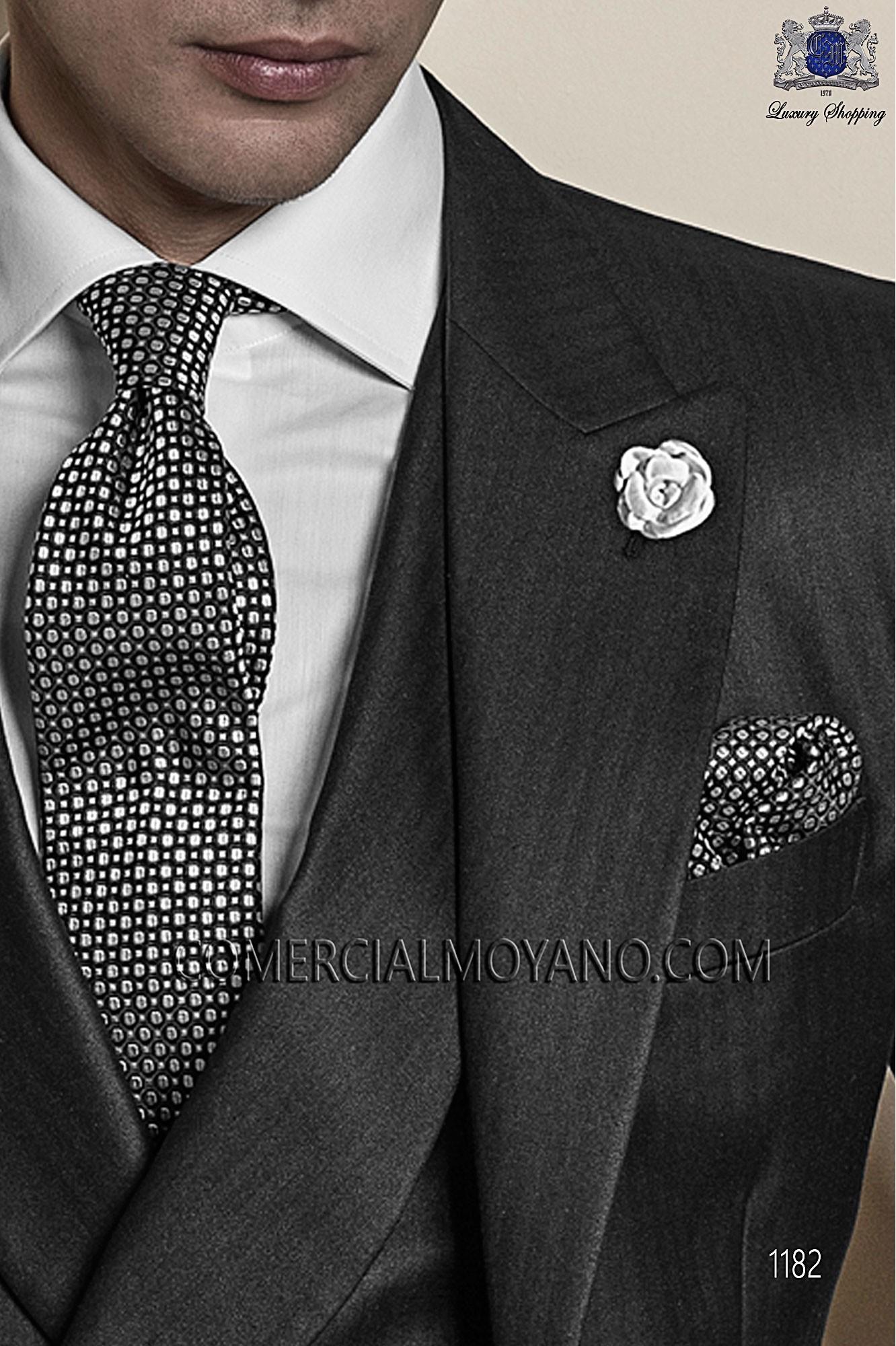 Italian gentleman black men wedding suit, model: 1182 Ottavio Nuccio Gala Gentleman Collection