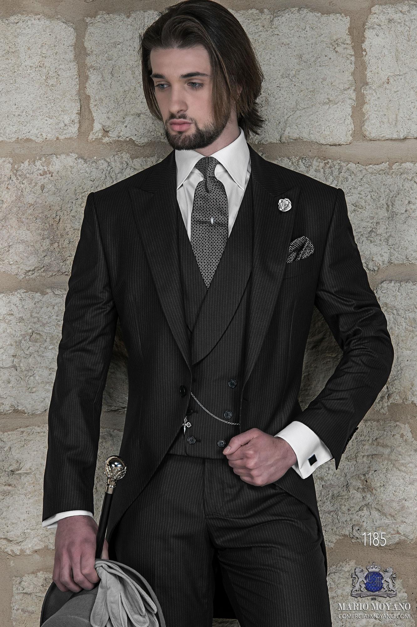 Traje de novio italiano negro modelo: 1185 Ottavio Nuccio Gala colección Gentleman