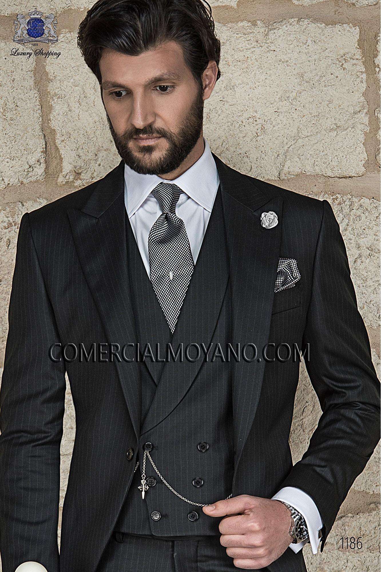 Traje Gentleman de novio negro modelo: 1186 Ottavio Nuccio Gala colección Gentleman