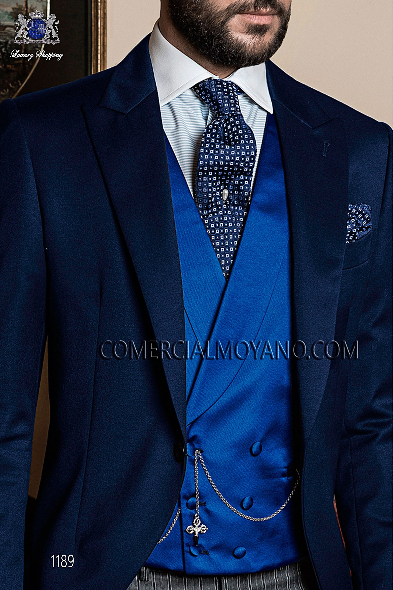 Italian gentleman blue men wedding suit, model: 1189 Ottavio Nuccio Gala Gentleman Collection