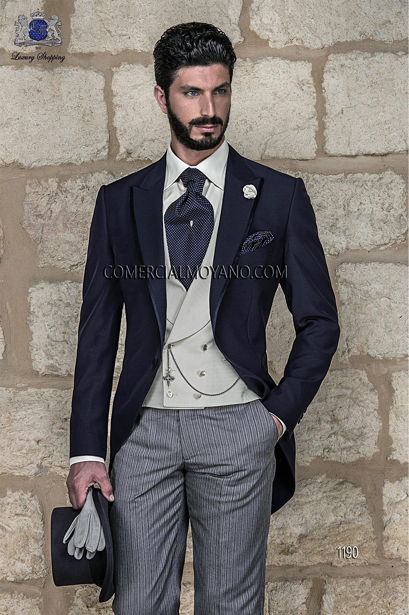 Traje de novio italiano azul modelo: 1190 Ottavio Nuccio Gala colección Gentleman