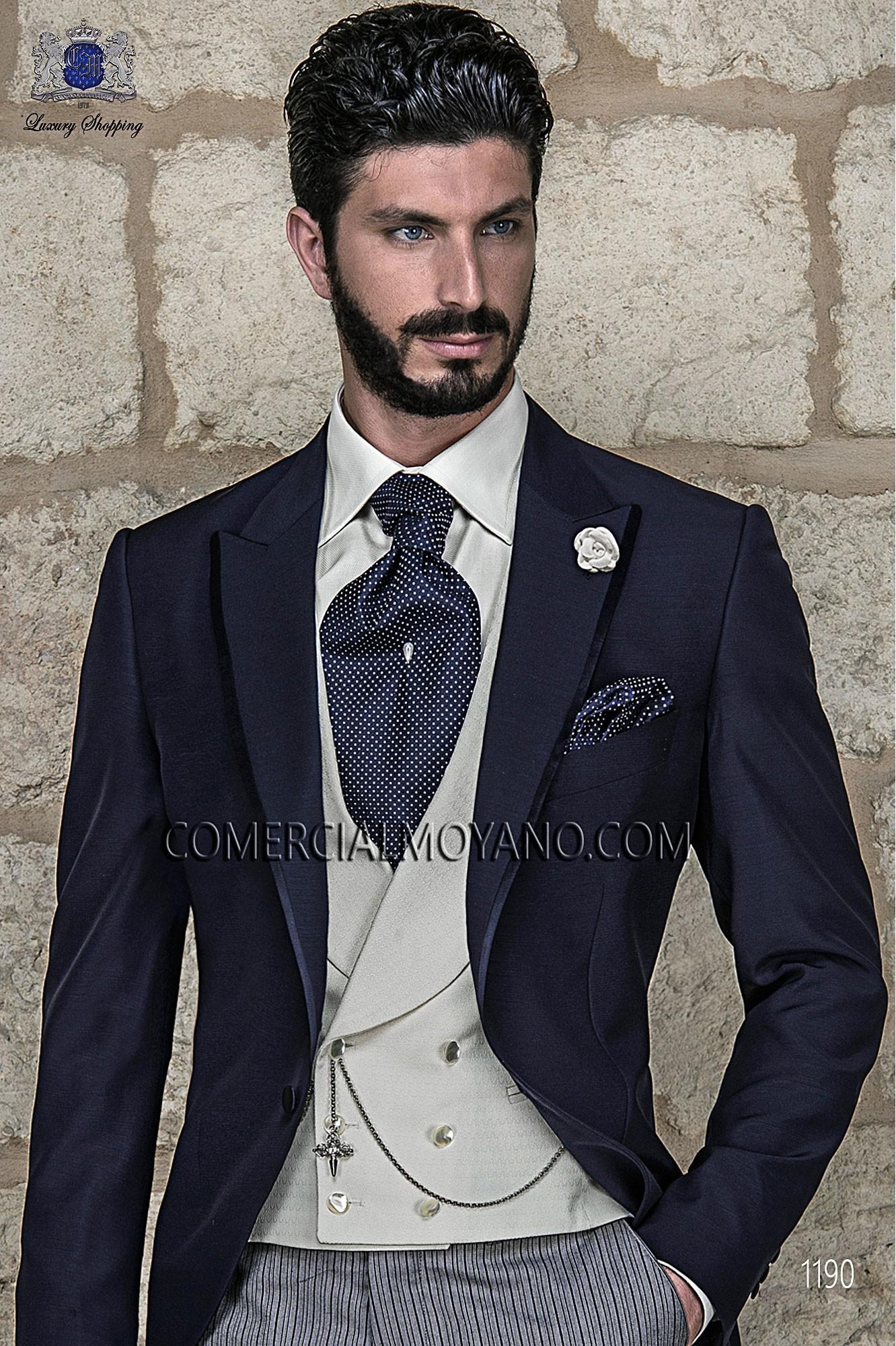 Traje Gentleman de novio azul modelo: 1190 Ottavio Nuccio Gala colección Gentleman