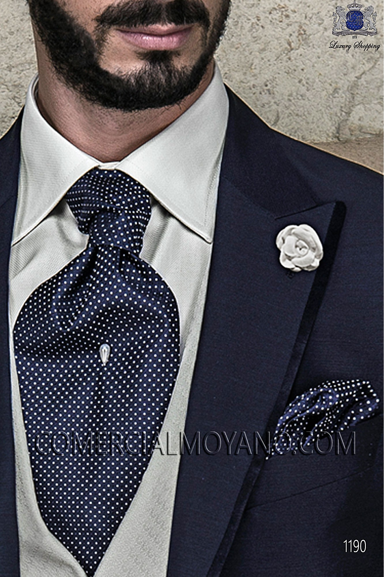 Italian gentleman blue men wedding suit, model: 1190 Ottavio Nuccio Gala Gentleman Collection