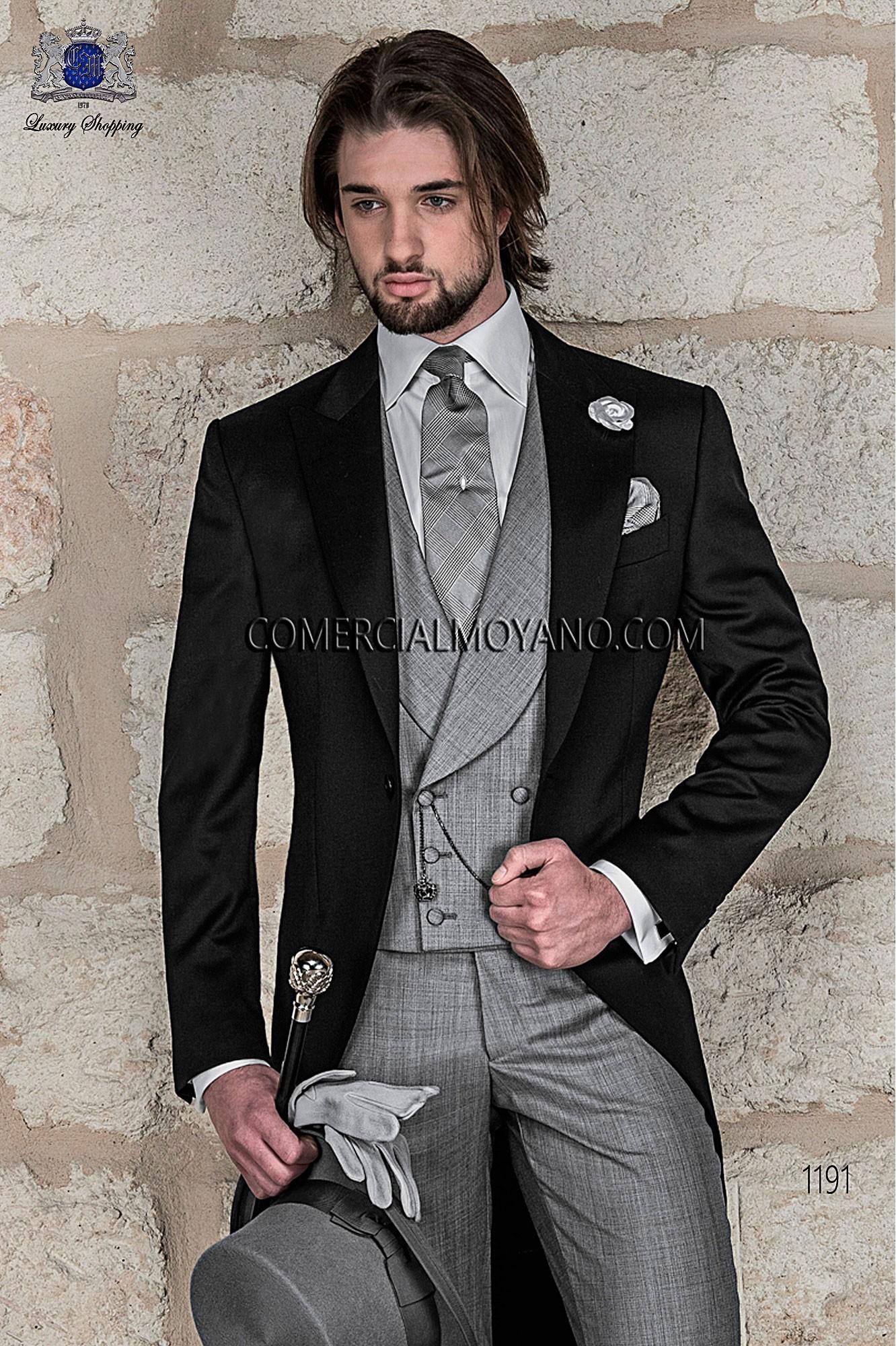 Traje Gentleman de novio negro modelo: 1191 Ottavio Nuccio Gala colección Gentleman