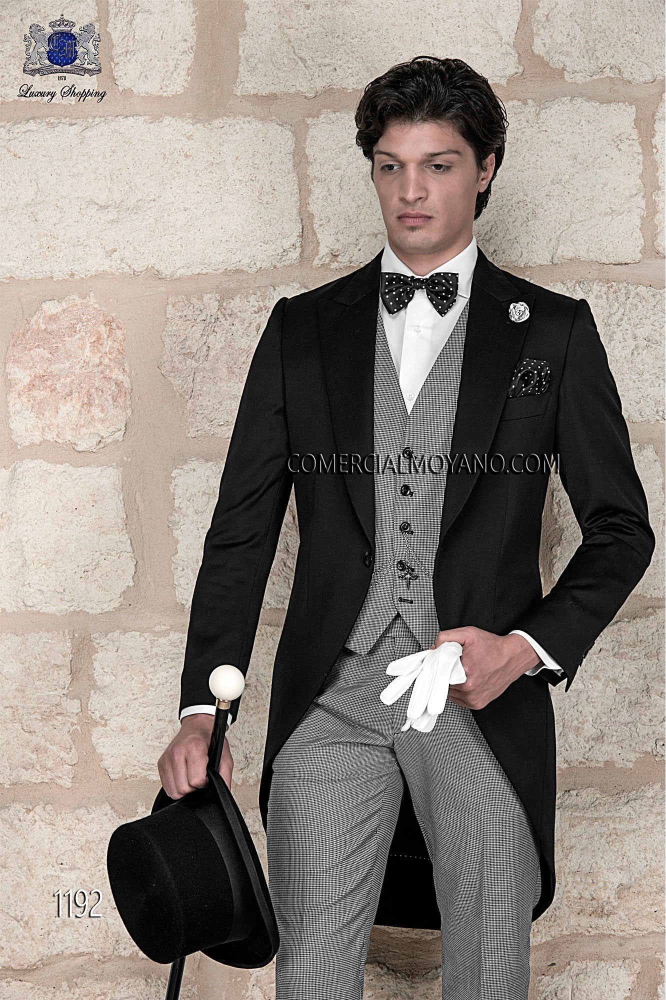 Gentleman black men wedding suit model 1192 Ottavio Nuccio Gala