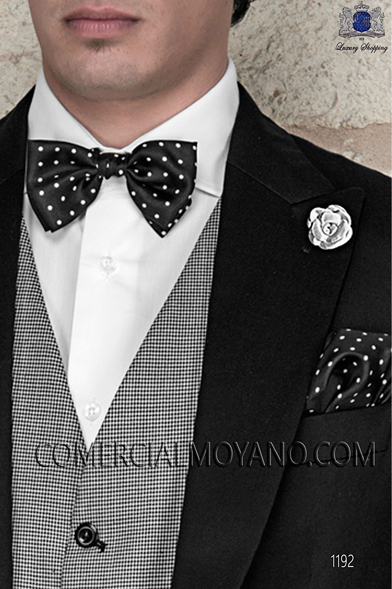 Italian gentleman black men wedding suit, model: 1192 Ottavio Nuccio Gala Gentleman Collection