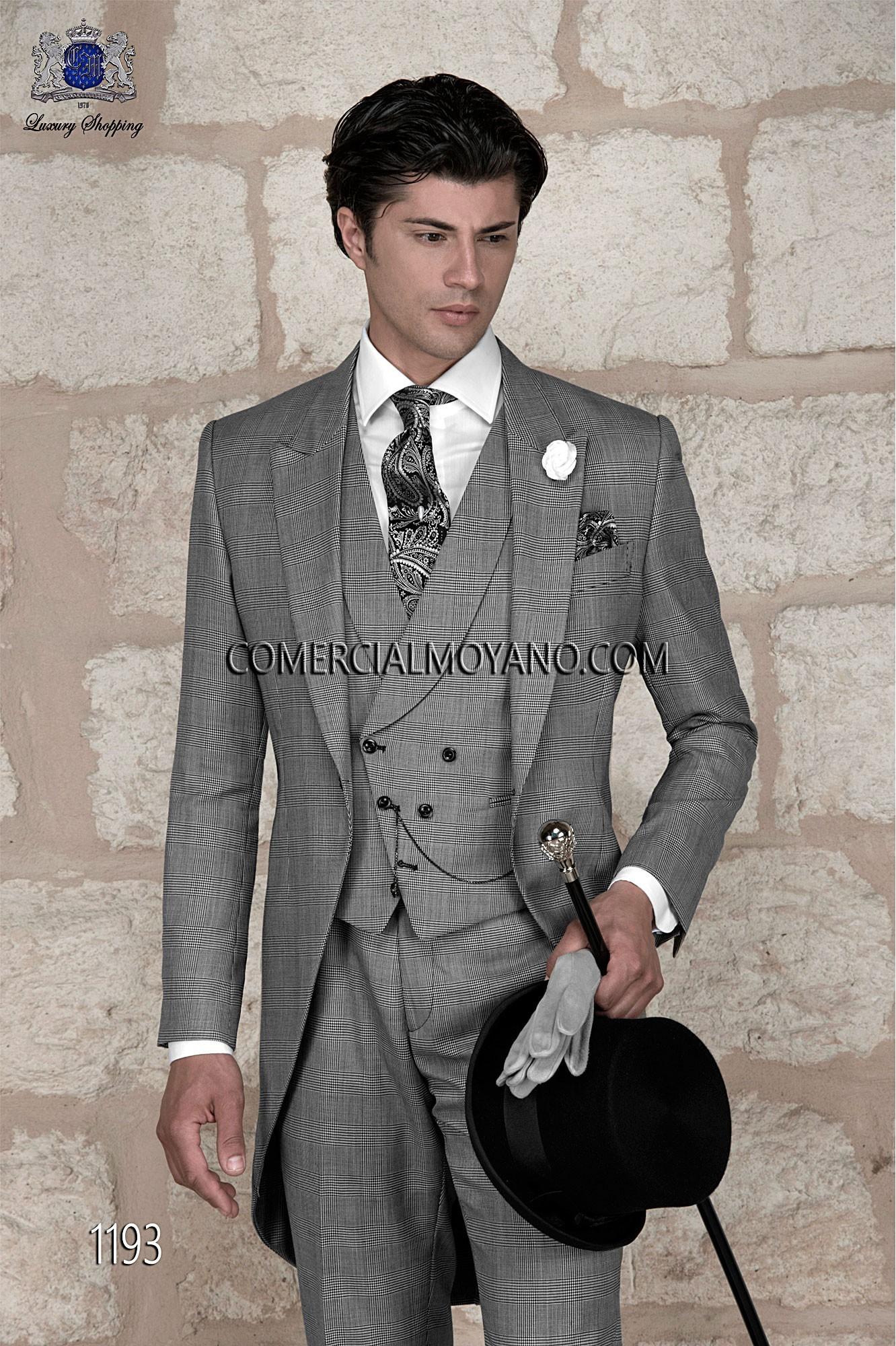 Italienische maßgeschneiderte Hochzeits Cutaway, Prinz von Wales, Stil 1193 Ottavio Nuccio Gala, 2015 Gentleman Kollektion.