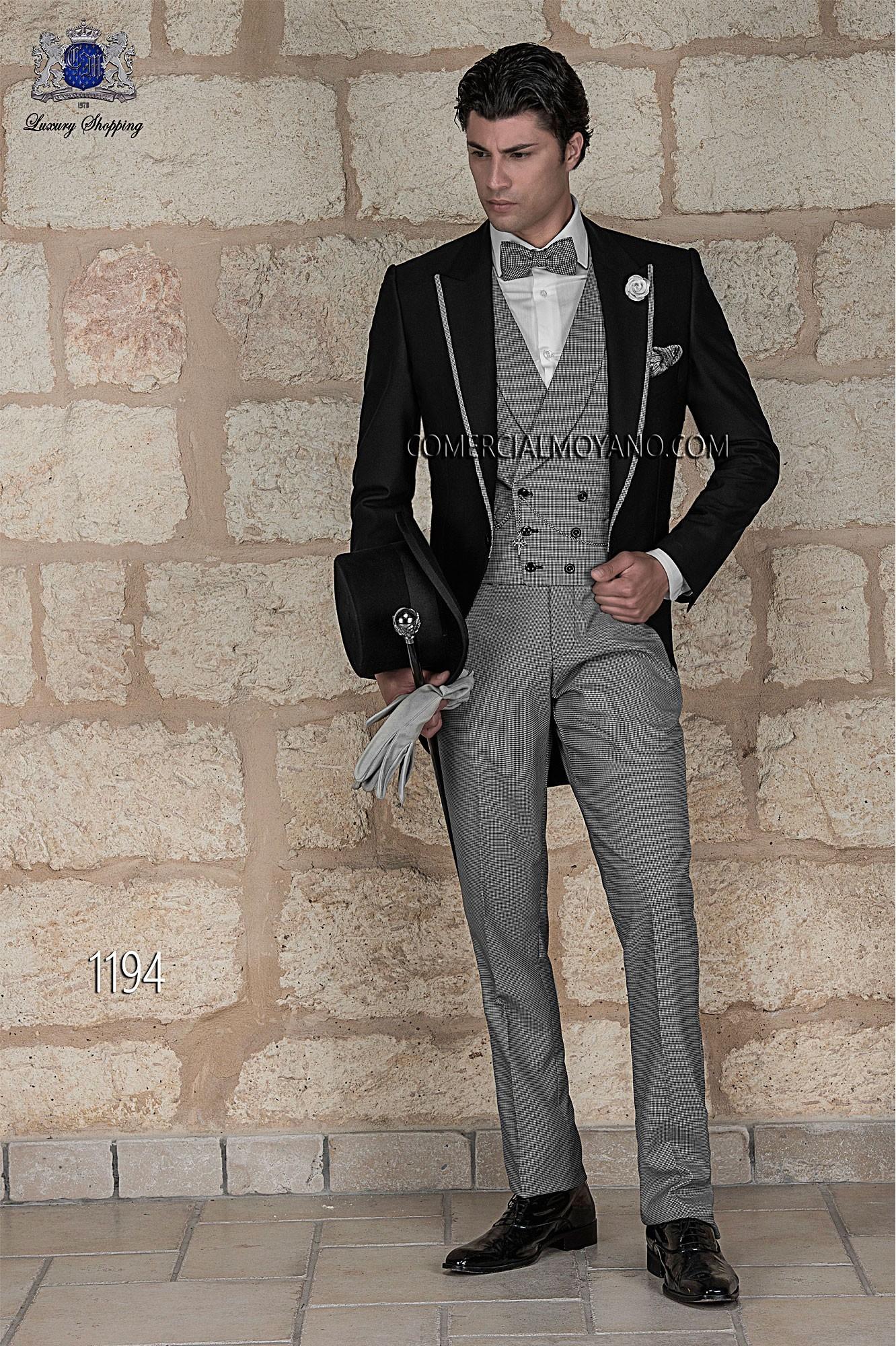 Traje de novio italiano negro modelo: 1194 Ottavio Nuccio Gala colección Gentleman