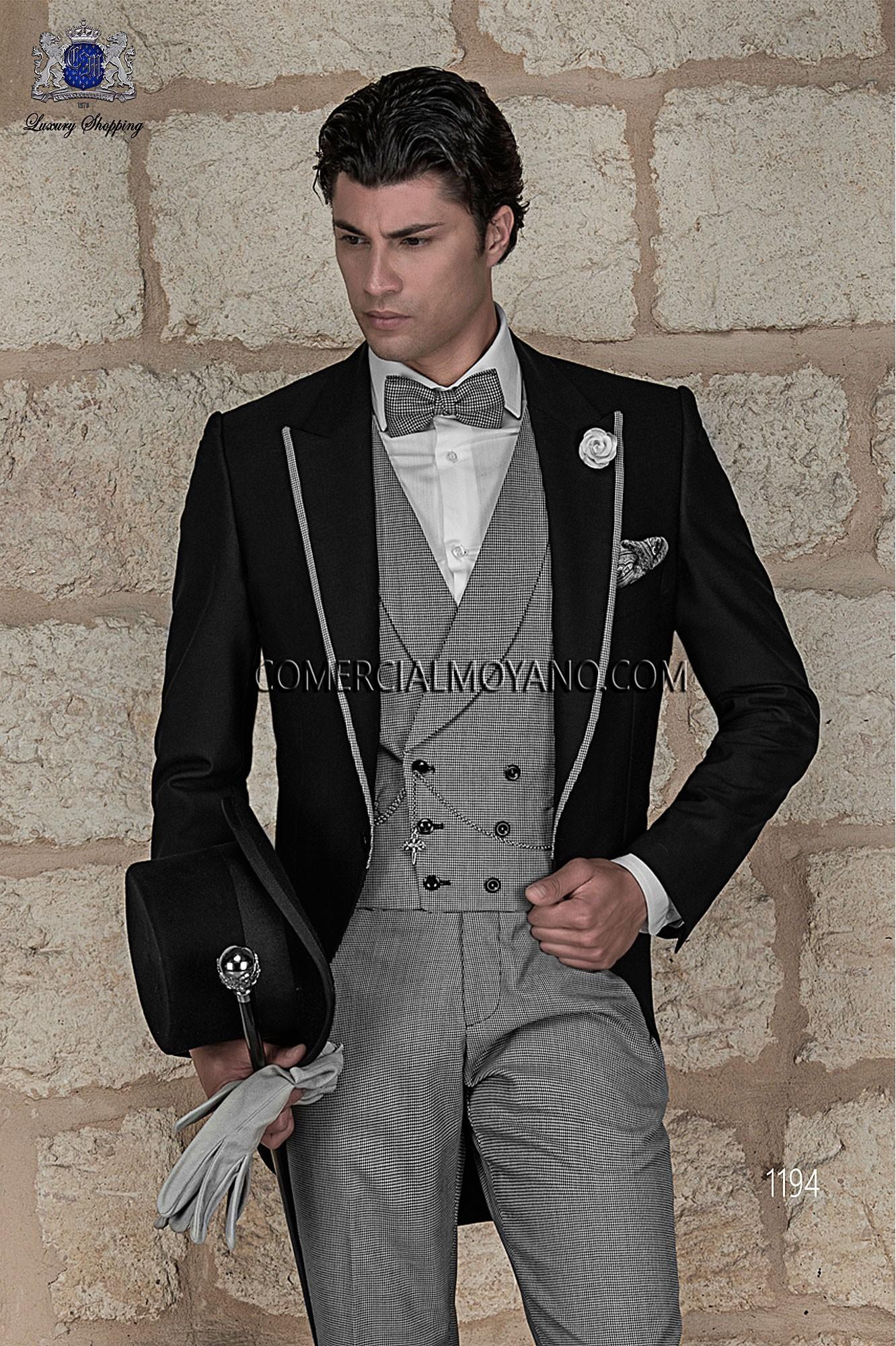 Traje Gentleman de novio negro modelo: 1194 Ottavio Nuccio Gala colección Gentleman