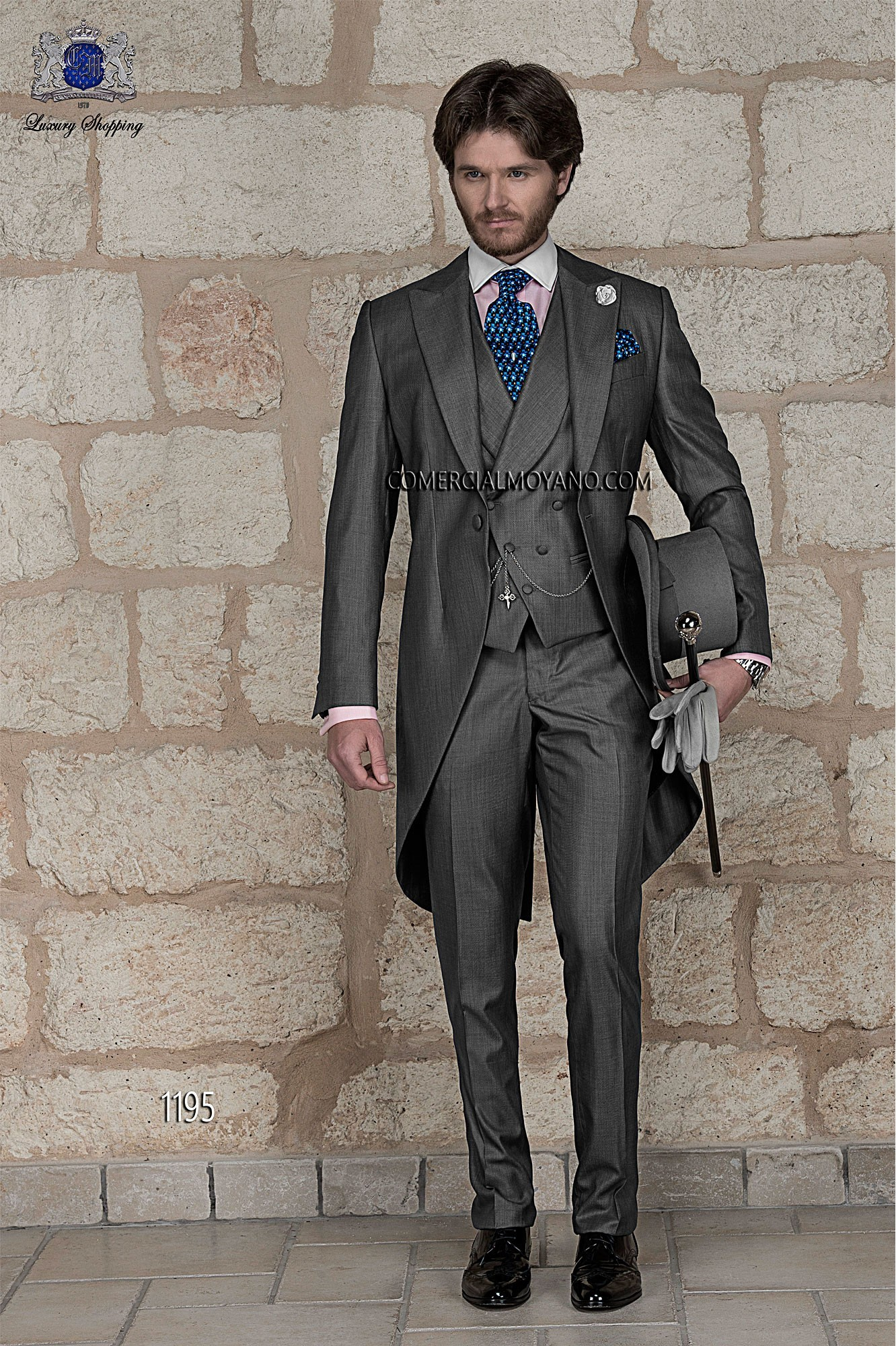 Gentleman grey men wedding suit model 1195 Ottavio Nuccio Gala