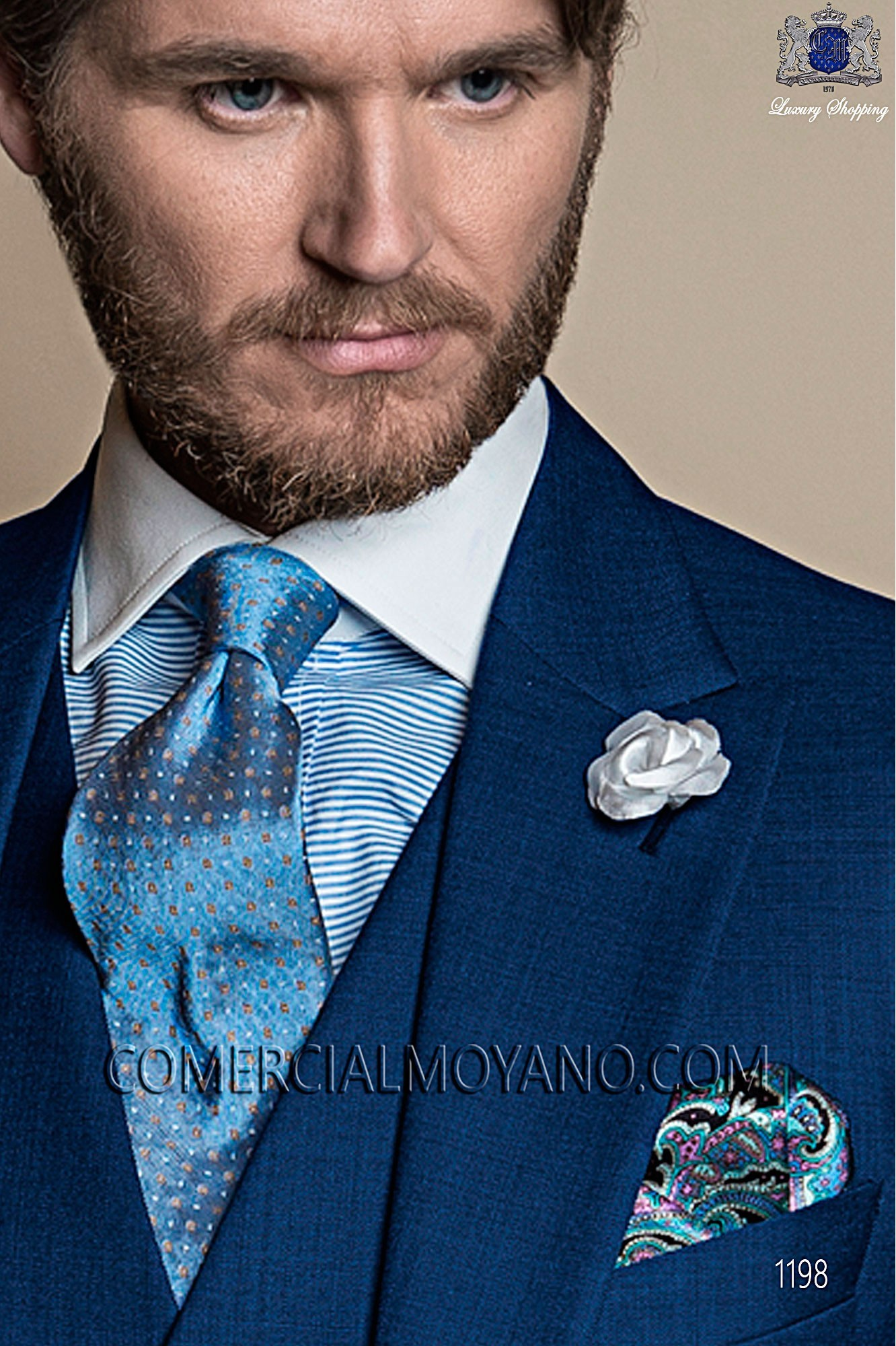 Italian gentleman blue men wedding suit, model: 1198 Ottavio Nuccio Gala Gentleman Collection