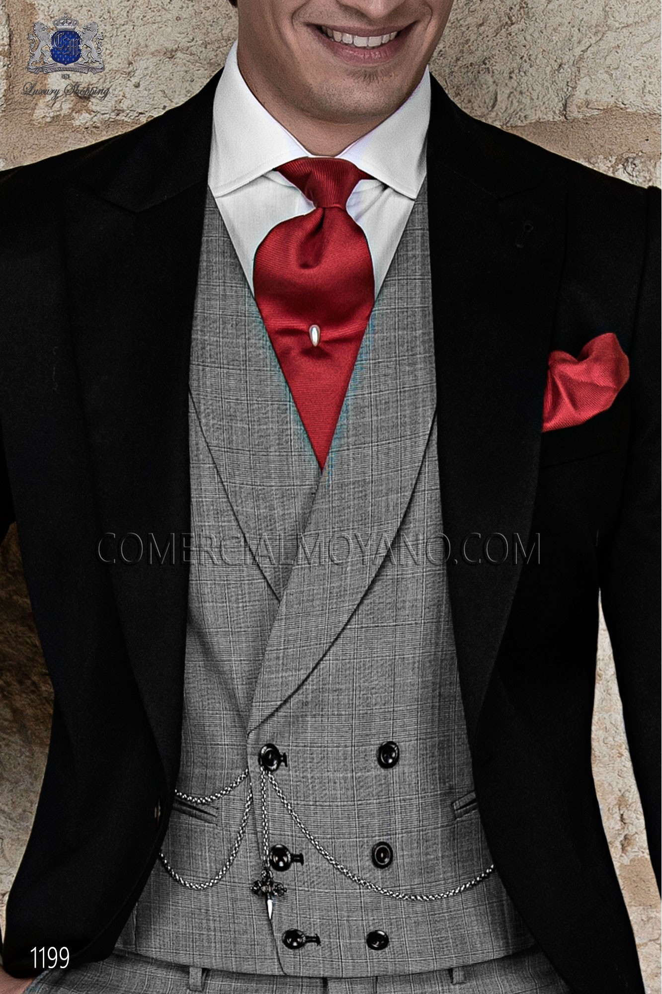 Italian gentleman black men wedding suit, model: 1199 Ottavio Nuccio Gala Gentleman Collection
