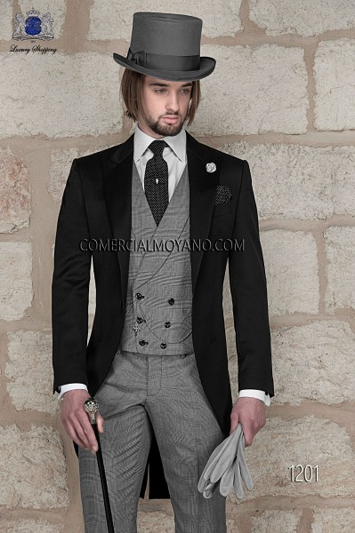 Italian gentleman black men wedding suit style 1201 Ottavio Nuccio Gala