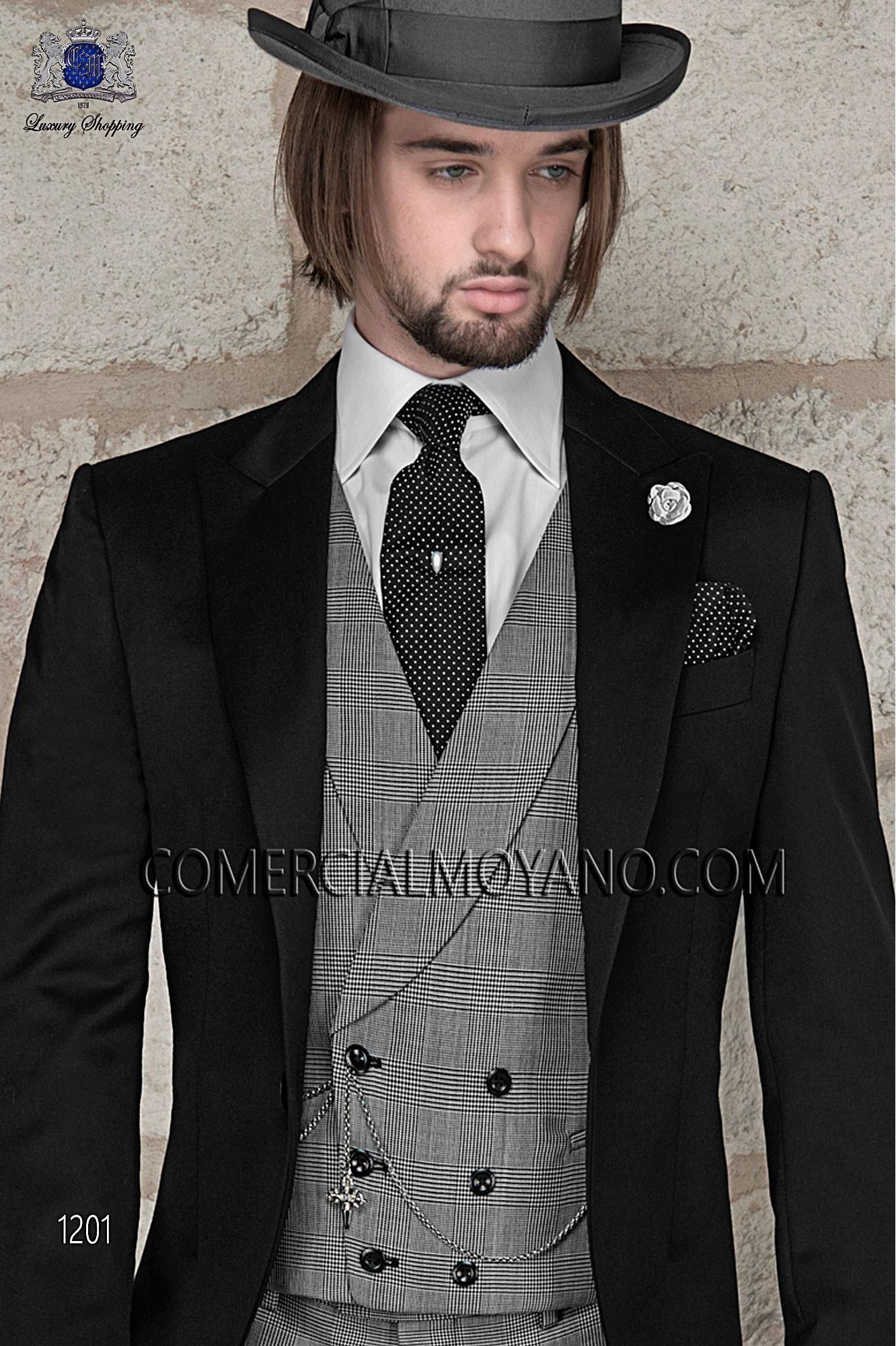 Traje Gentleman de novio negro modelo: 1201 Ottavio Nuccio Gala colección Gentleman