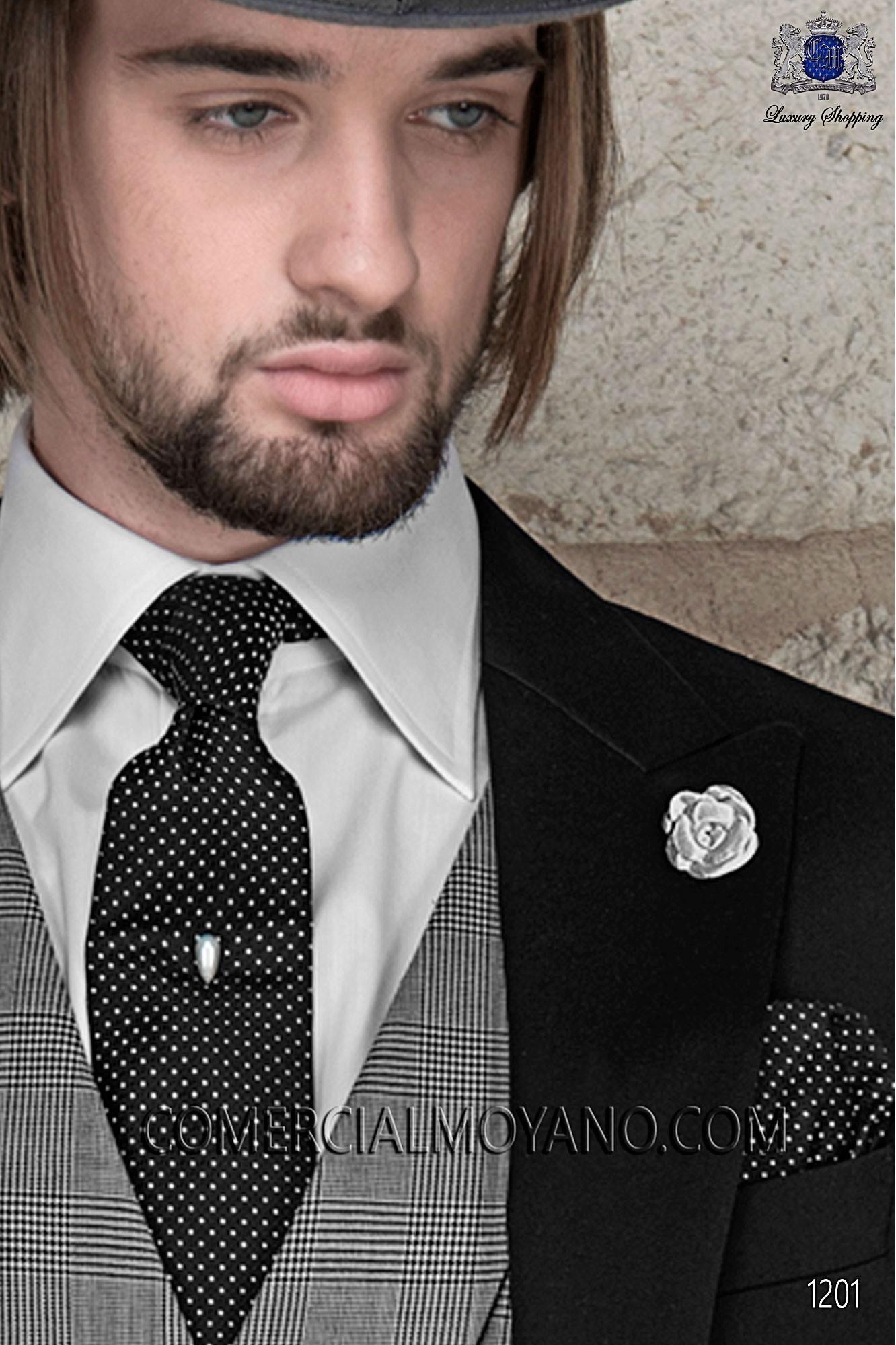 Italian gentleman black men wedding suit, model: 1201 Ottavio Nuccio Gala Gentleman Collection