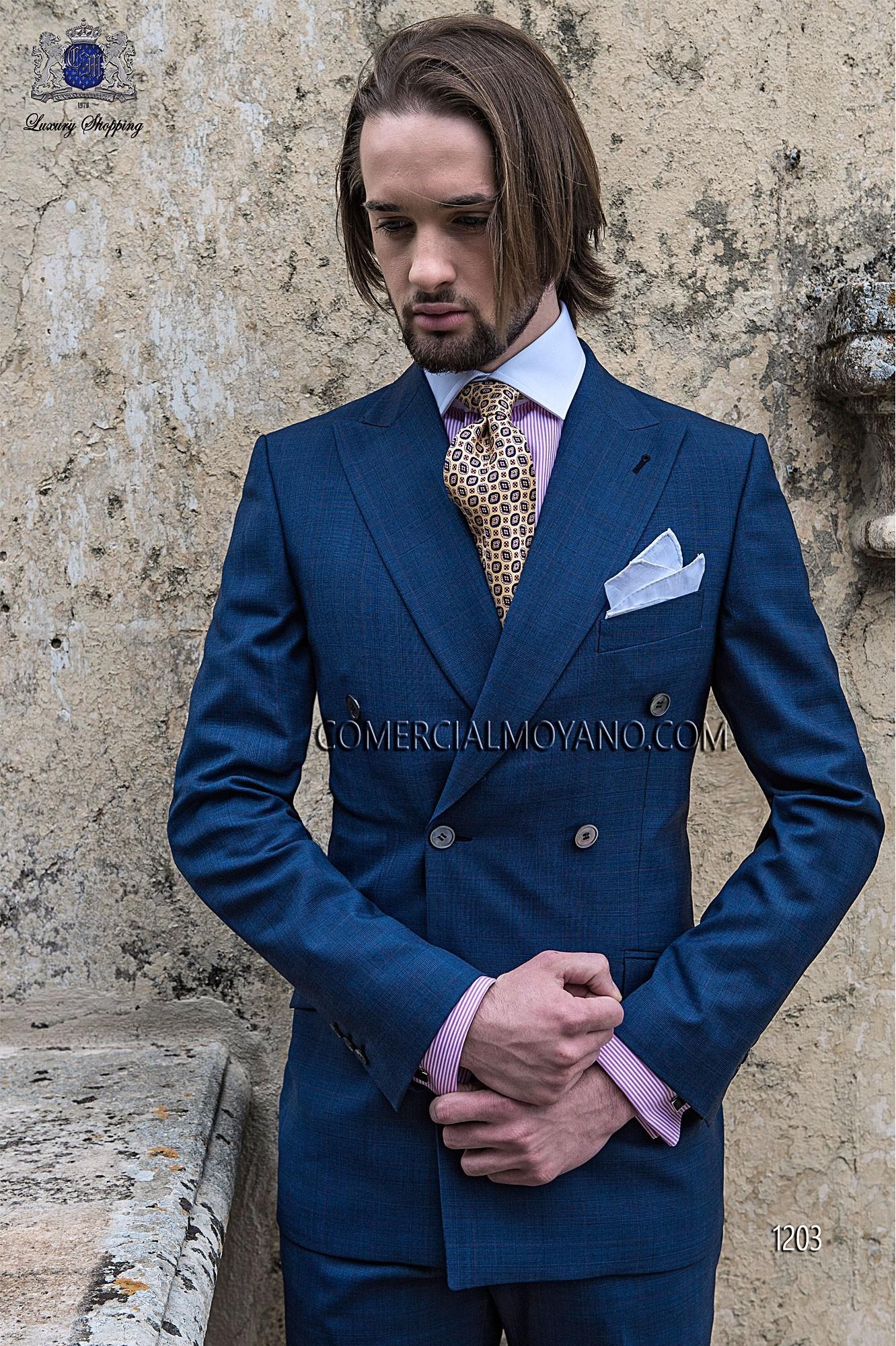 Traje de novio italiano azul modelo: 1203 Ottavio Nuccio Gala colección Gentleman