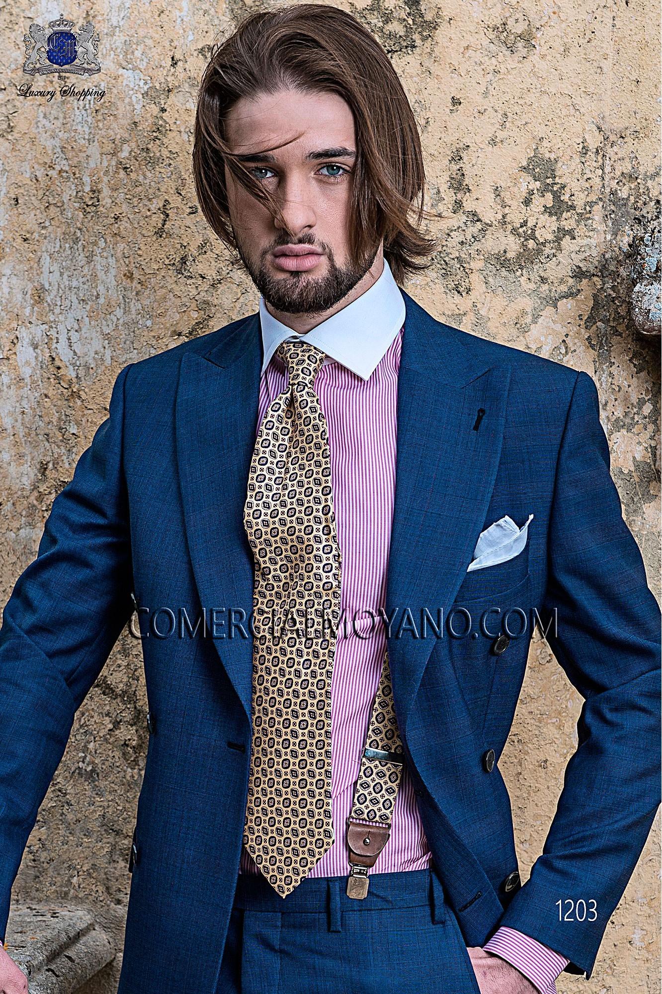 Traje Gentleman de novio azul modelo: 1203 Ottavio Nuccio Gala colección Gentleman