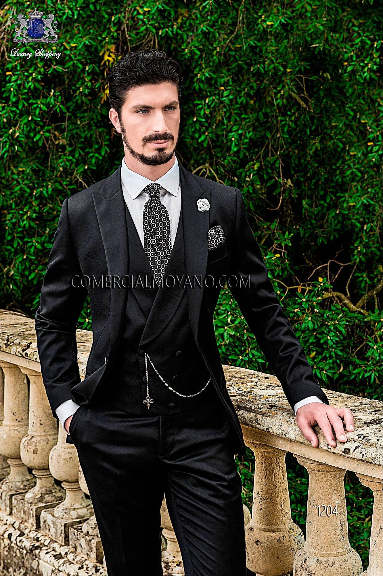 Gentleman black men wedding suit model 1204 Ottavio Nuccio Gala