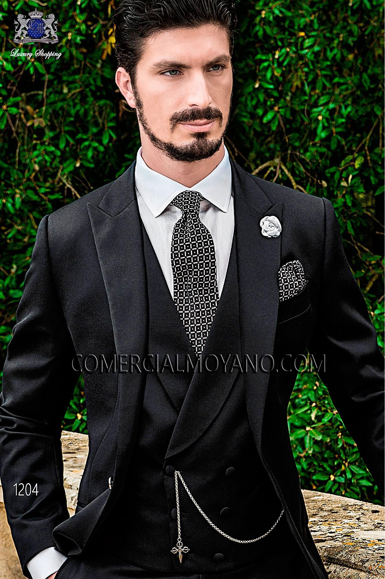 Traje Gentleman de novio negro modelo: 1204 Ottavio Nuccio Gala colección Gentleman