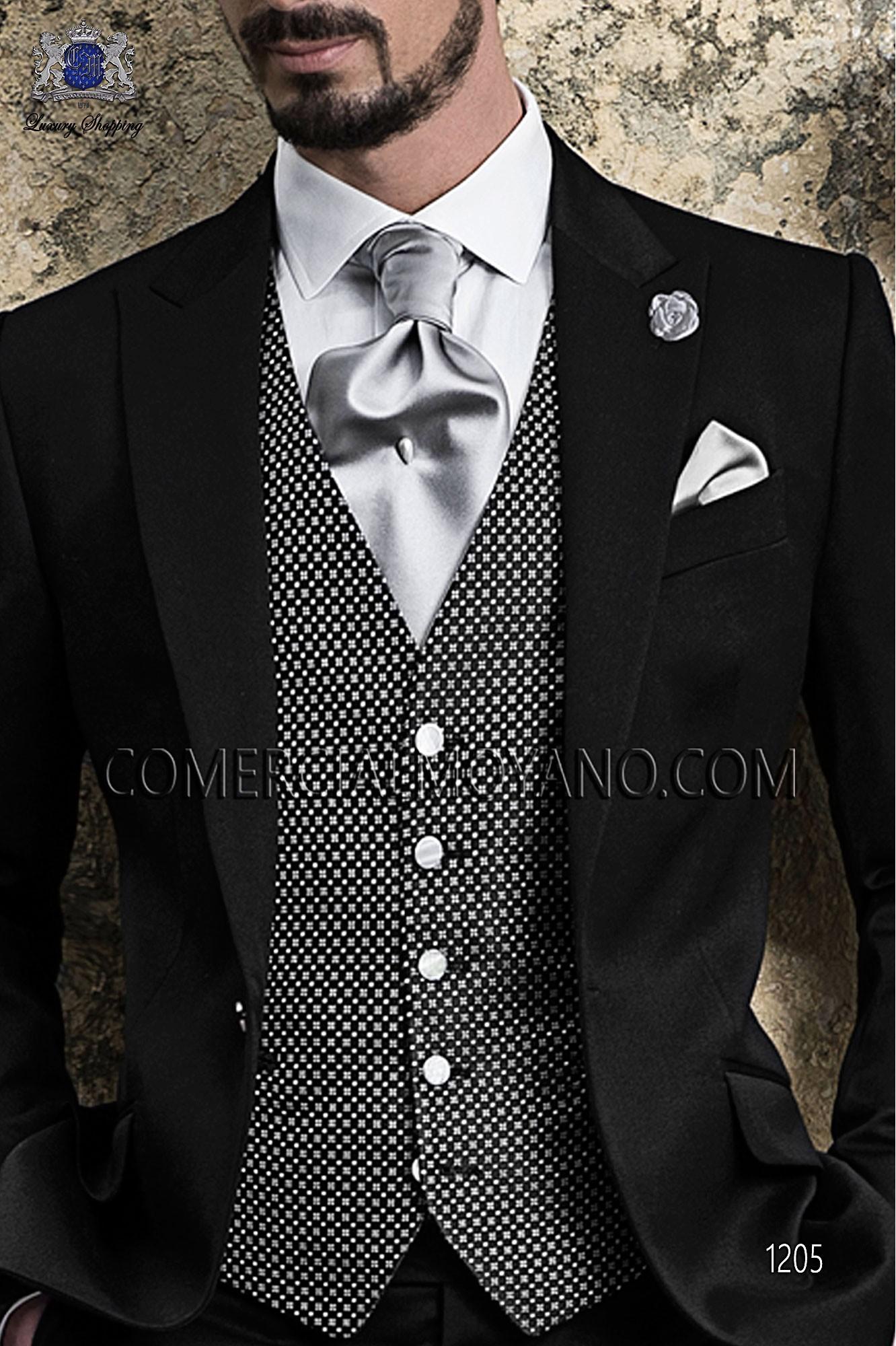 Italian gentleman black men wedding suit, model: 1205 Ottavio Nuccio Gala Gentleman Collection